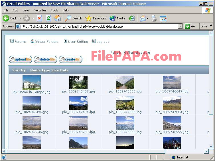 Easy File Sharing Web Server Secure Edition 7.2